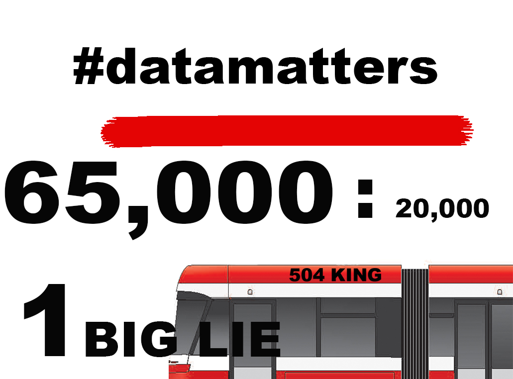 King Street Pilot Lie (Part 3 #DataMatters): Jennifer Keesmaat, et al.; The Pilot Lie; And Other Myths